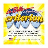 Струни для акустичної гітари La Bella C500T Criterion Acoustic Guitar, Golden Alloy – Extra Light