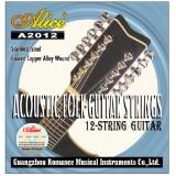 Струны для акустической гитары Alice A2012 12 струн легкое натяжение