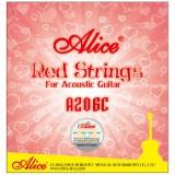 Струны для акустической гитары Alice A206C-L легкое натяжение
